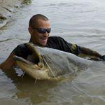 Fiume Sesia: pesca del siluro con il morto manovrato