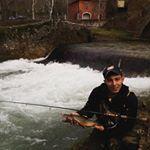 Salmerino sul fiume Aniene a spinning