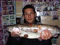 Trota iridea al lago del Grillo