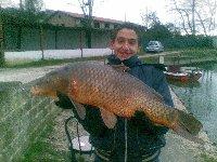 Carpa 9Kg con il freddo al lago Le Palme