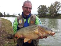 Carpa di oltre 14kg al lago Bufalotta a novembre.