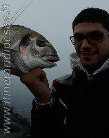 Orata di 2kg con selfie a Focene - Roma