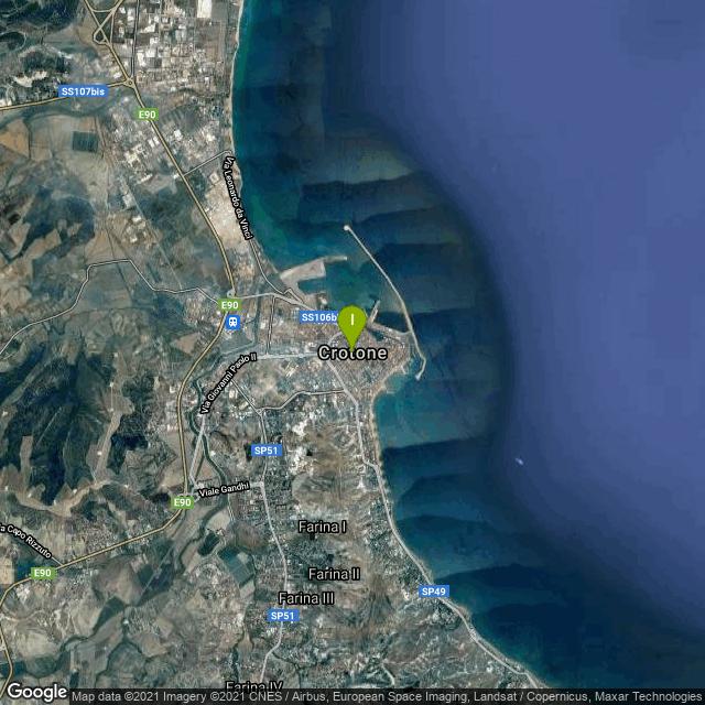 Il luogo di pesca. Lat: 39.080782 Long: 17.127114