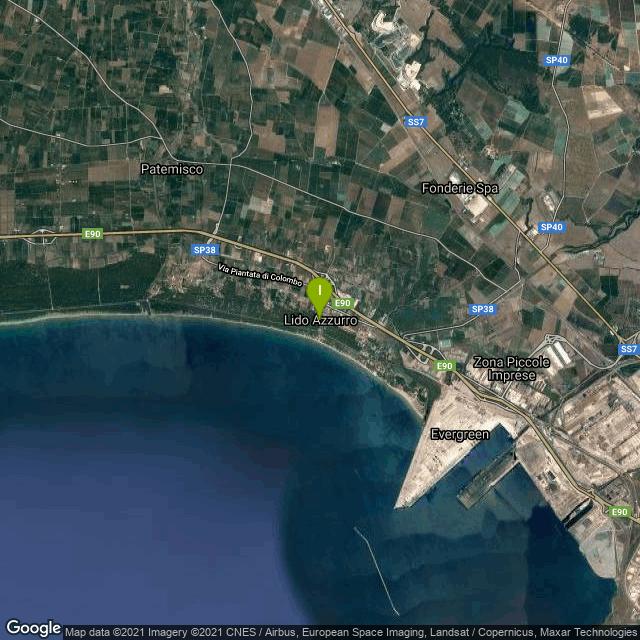 Il luogo di pesca. Lat: 40.519553 Long: 17.131747