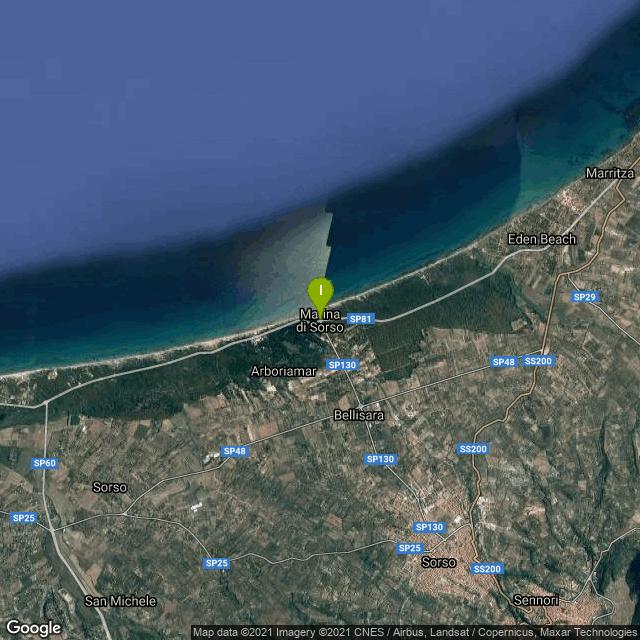 Il luogo di pesca. Lat: 40.828232 Long: 8.554619